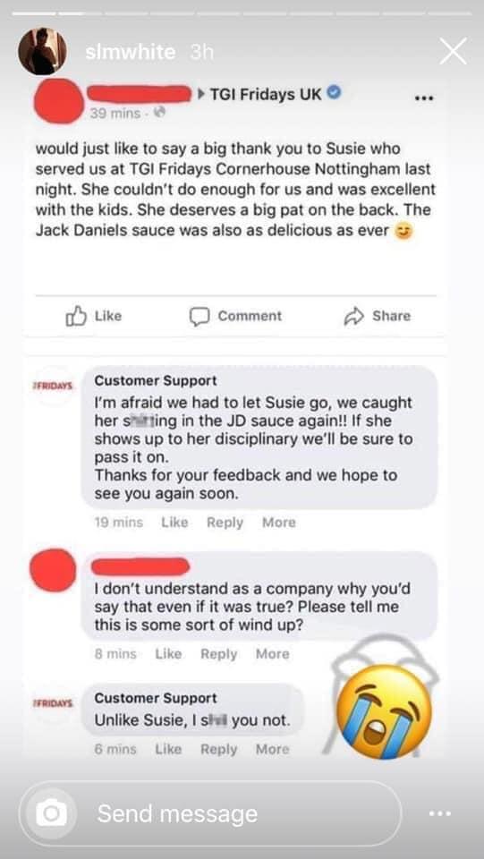 Customer Support trolls customers