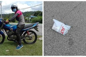 Honest FoodPanda Rider Finds Dropped Parcel, Delivers It to Owner's Address