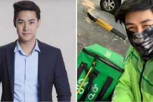 Thai Actor Works as GrabFood Rider to Support His Family Amid COVID-19 Crisis