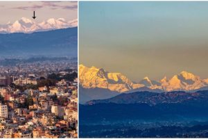 Mt. Everest Seen from Kathmandu for the First Time in Living History, Thanks to COVID