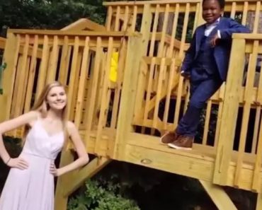 Boy Hosts Special 'Socially Distanced' Prom Party for Nanny after School Canceled Event