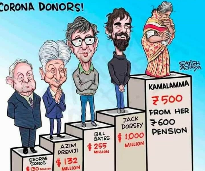 donating nearly all monthly pension