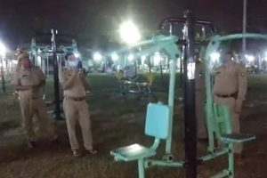 Fitness Freak 'Ghost' Caught on Camera Using Outdoor Gym Equipment