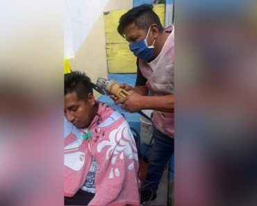 Creative Barber Who Uses Angle Grinder to Cut Hair Goes Viral