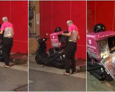 Old Man Becomes Delivery Rider to Support Himself Amid COVID-19 Lockdown