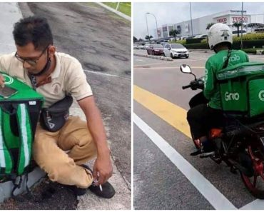 Netizens Help Deaf-Mute GrabFood Rider Find Motorcycle, Raise Funds to Help Him Out