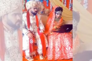 Workaholic Bride Goes Viral for Working on Laptop as Groom Watches in Frustration