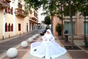 Bride's Photoshoot Goes Viral as Photographer Captures Exact Moment of Beirut Blast