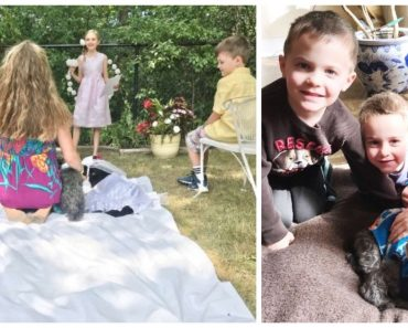 Kids Throw Wedding Party So Senior Dog Can Marry His Best Friend