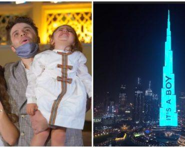 Dubai Influencers Makes Biggest-Ever Gender Reveal on the World's Tallest Building