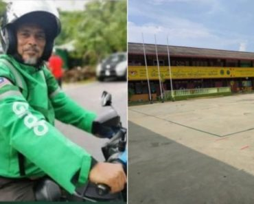 Headmaster Works as GrabFood Rider to Earn Extra for School's Multipurpose Hall