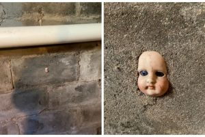 Woman Advised to Move Out after Finding Creepy Doll's Head Embedded on Wall