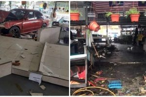 84-Year-Old Driver Hits Accelerator Instead of Brake, Crashes into Market Stalls