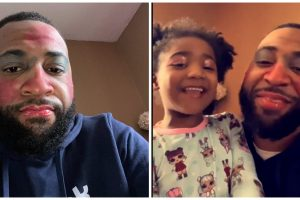 Dad Goes Viral after Allowing Daughters to Put Makeup on His Face