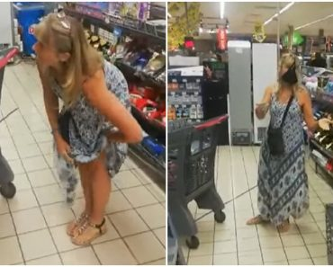 Woman Removes Underwear, Uses it as Face Mask in Supermarket