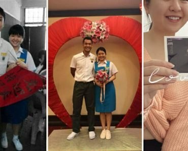 HS Sweethearts Celebrate 12-Year Anniversary, Announce Pregnancy by Wearing School Uniforms