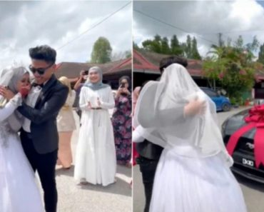 18-Year-Old Guy Surprises Bride with Brand New Mustang on Wedding Day