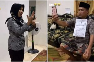 Husband Takes Video, Wears Script on Clothes to Help Make Wife's Educational Videos
