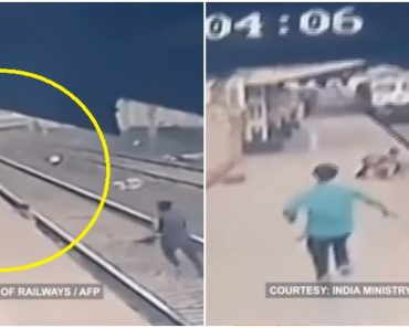 Indian Railway Worker's Dramatic Rescue of Child from Oncoming Train Goes Viral