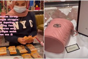 Woman Buys Gucci Bag with RM20 ($5) Bills She Saved for 8 Months