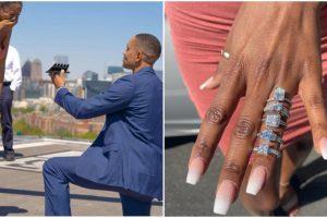 Guy's Impressive 5-Ring Wedding Proposal Goes Viral