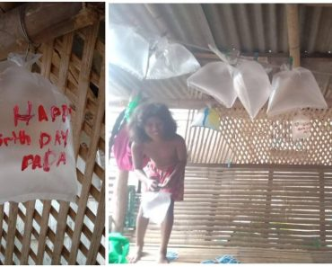Filipino Kids Throw Surprise Party for Dad with Cellophane Balloons and Egg Cake