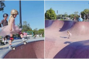 6-Year-Old Skater Princess in Pink Dress Goes Viral with Impressive Moves
