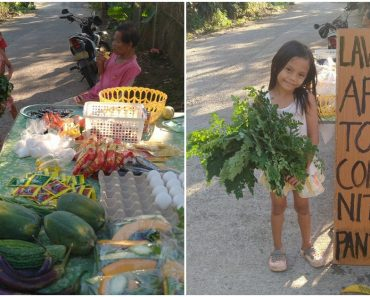 After Receiving Biscuit, Girl Happily Returns to Community Pantry to Give Vegetables