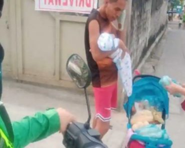 Filipino Dad Goes Viral for Carrying 1-Month-Old Baby While Selling Corn in the Streets
