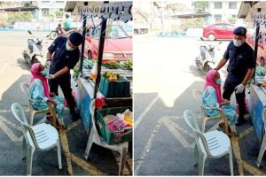 Kind Policeman Gives Face Mask, Helps Old Woman Who Forgot to Wear One