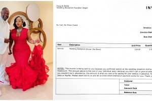 Newlyweds Spark Debate After Sending $240-Invoice to No-Show Wedding Guests