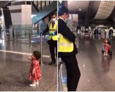 Adorable Toddler Asks Airport Security Permission to Bid Goodbye to Aunt